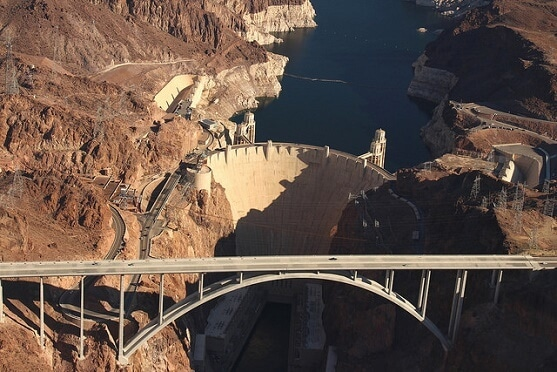 The drive from Phoenix to Las Vegas has you crossing this scenic bridge by Hoover Dam
