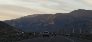 The drive from Palm Springs to Las Vegas