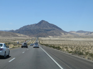View of the drive back from Las Vegas to San Diego