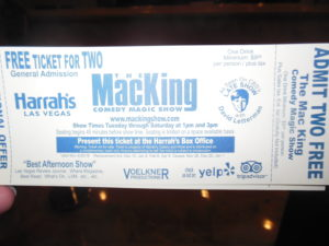 This is the $9.95 Voucher for the Mac King Show