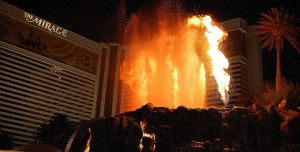 The Mirage Volcano Show Goes Off Twice a Night on Weekdays, and Three Times a Night on Weekends