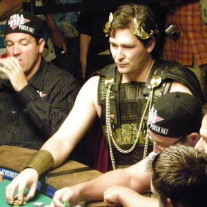 The Poker Brat dressed for success at the 2009 WSOP