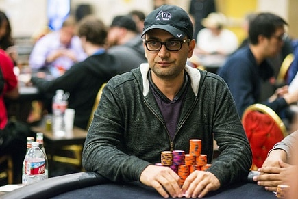 Antonio Esfandiari trying to add to his net worth at an L.A. WPT stop