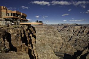 It's 126 miles from Las Vegas to the Grand Canyon Skywalk