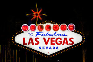 The Welcome to Las Vegas Sign is on the southern end of the Strip