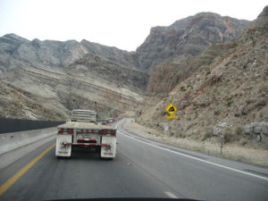 The climb up the Virgin River Gorge on the way to St. George