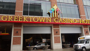 There are tons of parking spaces at the Greektown Casino Hotel