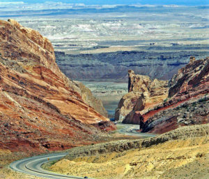 Interstate Drive from Las Vegas to Moab, near Green River, Utah