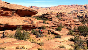 Mountain biking in Moab, which is about a 6.5 hour drive from Las Vegas