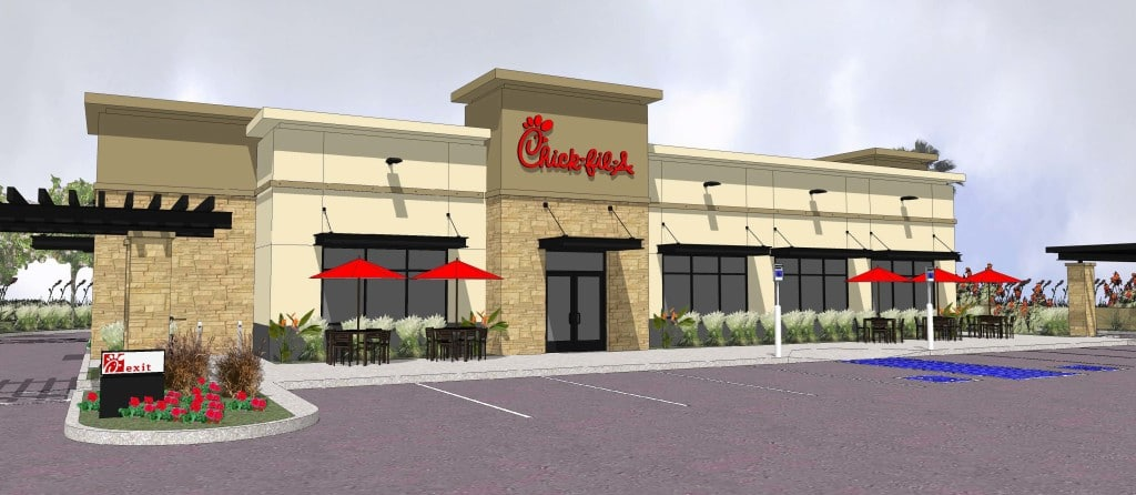 Rendering of the Chick-fil-A on Stephanie Road in Las Vegas