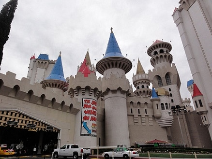 The Excalibur Valet Parking Area