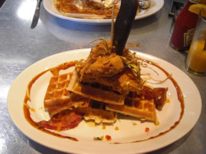 Chicken & Bacon Waffles at Hash House a Go Go