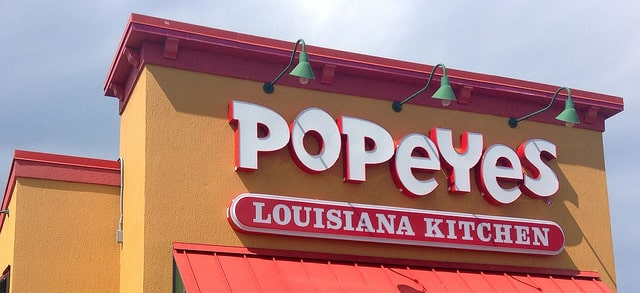 Popeyes Louisiana Kitchen is at the Excalibur Food Court