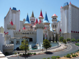 The Excalibur has a large food court called the Castle Walk