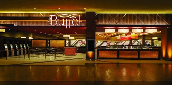 Entrance to the buffet at the Excalibur Hotel & Casino