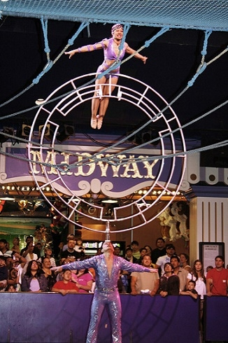 One of the free Circus Circus shows