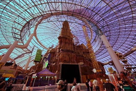 The Circus Circus Adventuredome sees over 3 million visitors a year