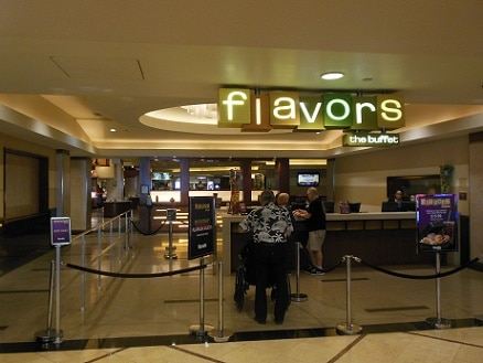 Entrance to Flavors Buffet at Harrah's Las Vegas