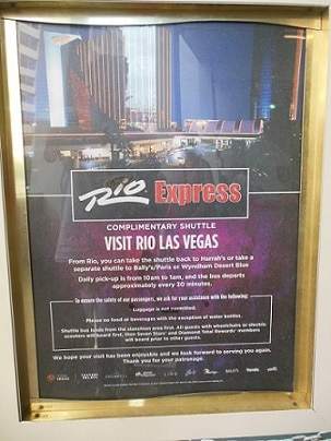 The Schedule for the Rio Las Vegas Shuttle