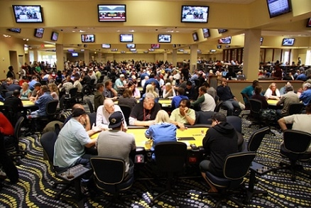 The poker room at BestBet Jacksonville