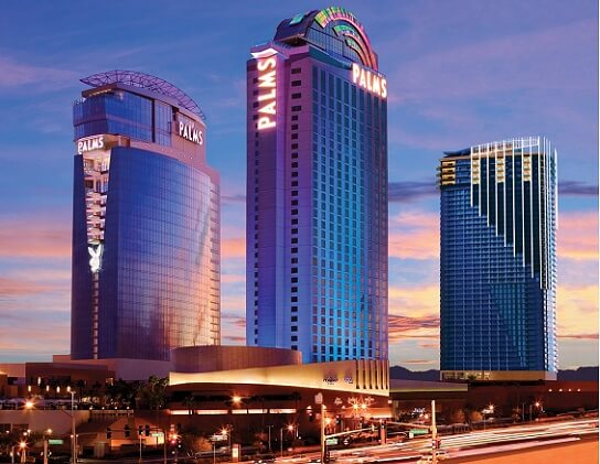 The three towers at the Palms in Las Vegas