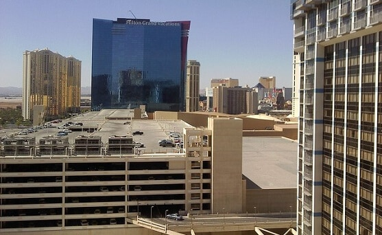 The lower left garage is for self parking for Bally's & the Paris Las Vegas