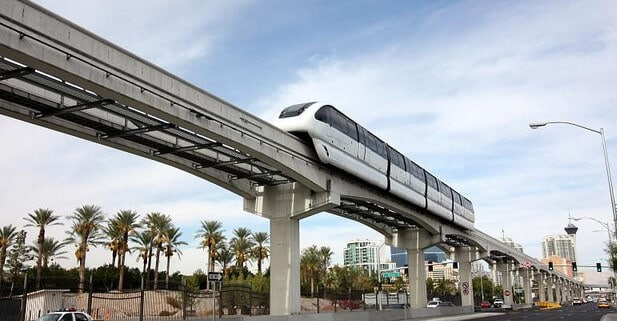 How much does the las vegas strip monorail cost ticket for How much does a hillside tram cost
