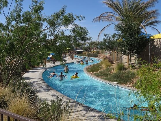 The lazy river at Wet'n'Wild Las Vegas