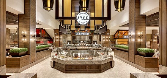 The entrance into the Palms A.Y.C.E. Buffet