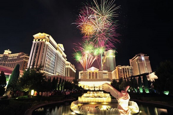 Caesars Palace hosts an annual 4th of July Fireworks Display