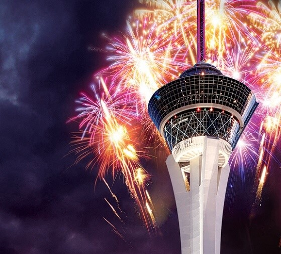 The Stratosphere sometimes has a July 4th fireworks show