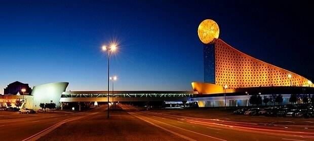 The casinos at Pear River Resort are 171 miles west of Birmingham