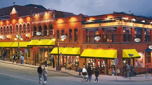 Some of the casinos in downtown Cripple Creek