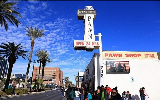 The Pawn Stars store is right on Las Vegas Boulevard
