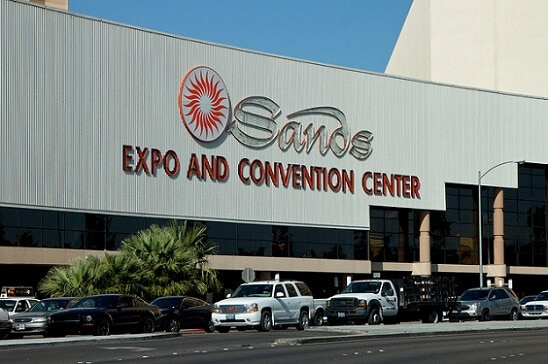 There is a lot of free parking at the Sands Expo & Convention Center