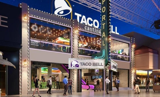 Rendering of the new Taco Bell on Fremont Street in downtown Las Vegas