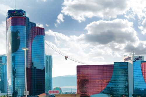The Voodo Zipline at the Rio starts from the 50th floor