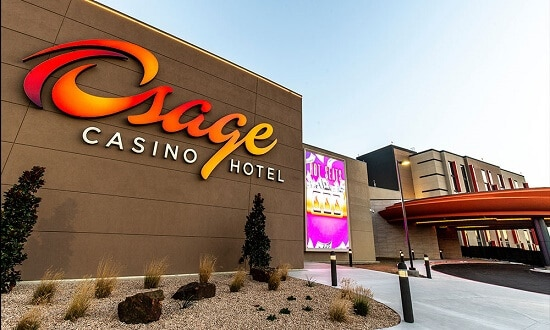 The Osage Casino is very close to downtown Tulsa