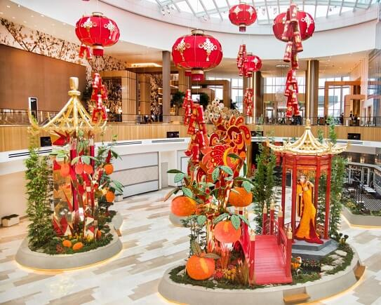 A Lunar New Year display at MGM's Conservatory