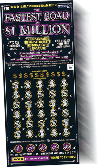A Massachusetts Scratch Ticket with a 2nd Chance Drawing