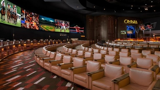The magnificent sportsbook at Caesars Palace