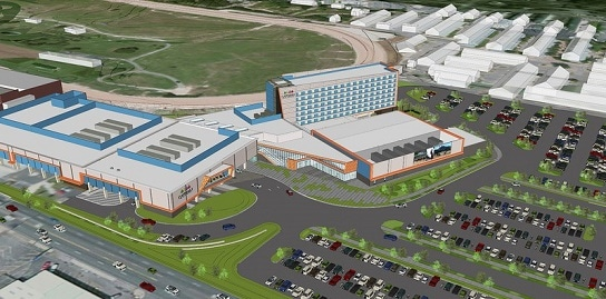 Rendering of Oaklawn's expansion