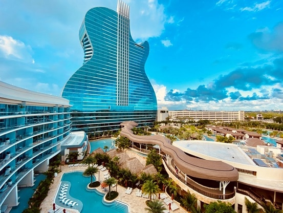 The Seminole Hard Rock Hollywood is the largest casino near Miami