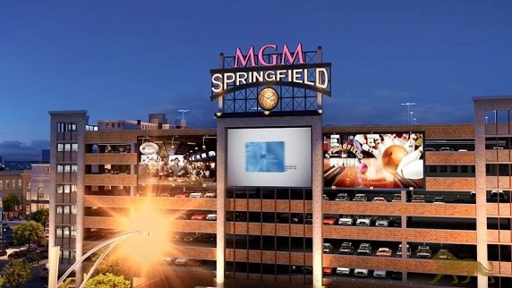 MGM Springfield has 3,400 free parking spaces in it's 8 story parking garage