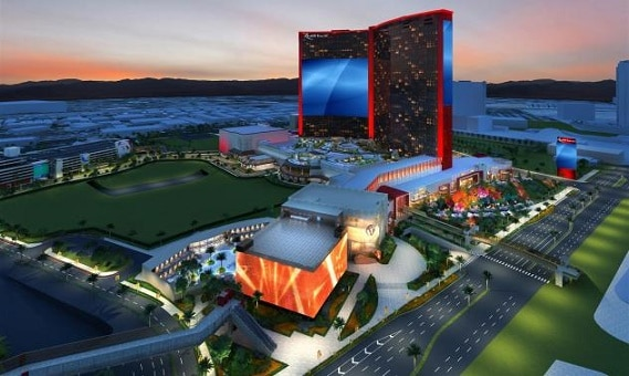 Renderings of the New Resorts World on the Las Vegas Strip