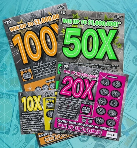 Scratch off tickets eligible for 2nd Chance Drawings rotate, but have included the multipler games.