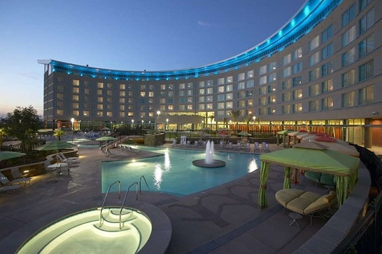 Tachi Palace Hotel & Casino is about 40 miles south of Fresno