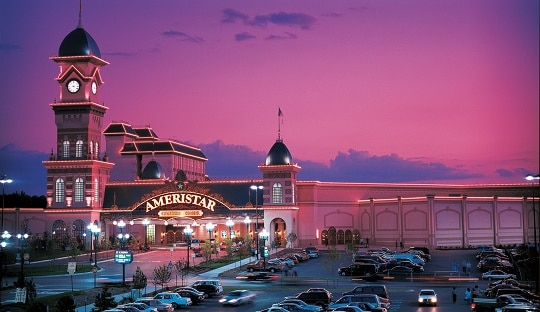 The Ameristar Kansas City is the biggest casino in the area