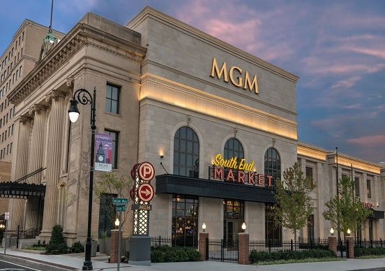 The MGM Springfield is one of two full service casinos in Massachusetts