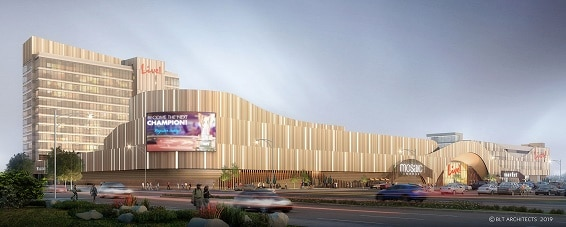 Renderings of the soon-to-be-open Live! Casino Philadelphia